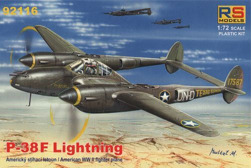 RS MODELS 1/72 92116 P-38 F LIGHTNING