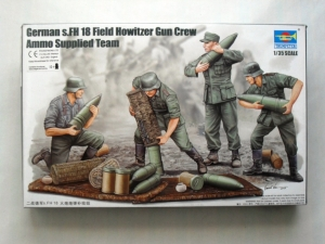 TRUMPETER 1/35 00426 GERMAN s.FH18 HOWITZER AMMO CREW