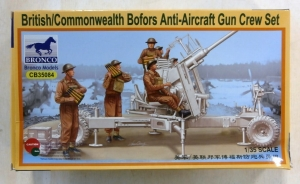 BRONCO 1/35 35084 BRITISH/COMMONWEALTH BOFORS ANTI-AIRCRAFT GUN CREW SET