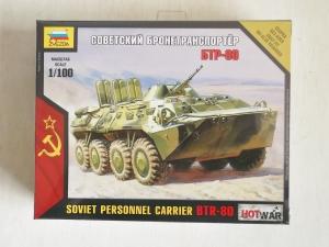 ZVEZDA 1/100 7401 SOVIET PERSONNEL CARRIER BTR-80