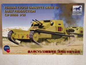 BRONCO 1/35 35006 ITALIAN CV3/33 TANKETTE  SERIE II  EARLY