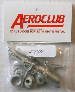 AEROCLUB 1/32 V220 F-105 U/C LEGS FOR TRUMPETER KIT