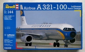 REVELL 1/144 04222 AIRBUS A321-100 LUFTHANSA RETRO DESIGN