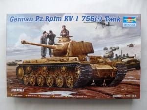 TRUMPETER 1/35 00366 GERMAN Pz.Kpfw KV-1 756 r