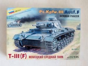 ZVEZDA 1/35 3571 Pz.Kpfw. III Ausf. F GERMAN PANZER