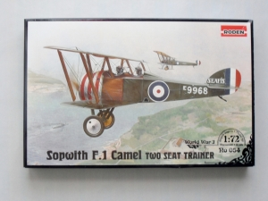 RODEN 1/72 054 SOPWITH CAMEL F.1 2-SEAT TRAINER