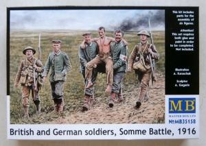 MASTERBOX 1/35 35158 BRITISH   GERMAN SOLDIERS SOMME BATTLE