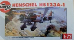 AIRFIX 1/72 02051 HENSCHEL Hs 123A-1