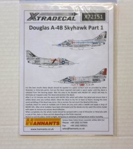 XTRADECAL 1/72 72151 DOUGLAS A-4B SKYHAWK PART 1