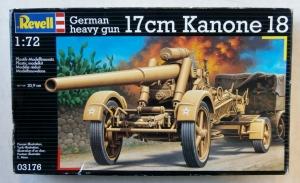 REVELL 1/72 03176 GERMAN 17cm KANONE 18