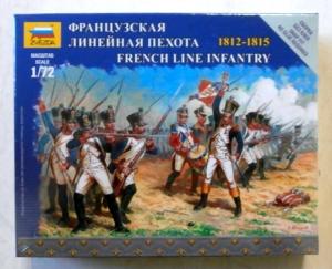 ZVEZDA 1/72 6802 FRENCH LINE INFANTRY 1812-1815