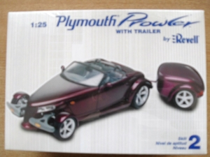 REVELL 1/25 0874 PLYMOUTH PROWLER WITH TRAILER