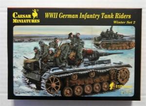 CAESAR MINATURES 1/72 079 WWII GERMAN INFANTRY TANK RIDERS