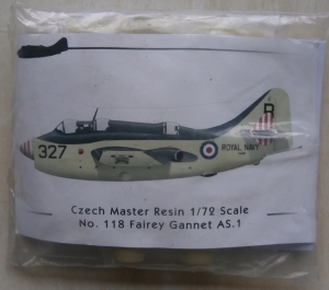 CZECH MASTER RESIN 1/72 118 FAIREY GANNET AS.1