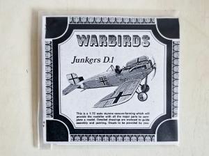WARBIRDS 1/72 JUNKERS D.I