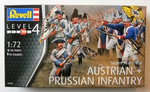 REVELL 1/72 02452 SEVEN YEARS WAR AUSTRIAN   PRUSSIAN INFANTRY