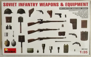 MINIART 1/35 35102 SOVIET INFANTRY WEAPONS   EQUIPMENT