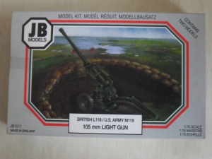 JB MODELS 1/76 1011 105mm FIELD GUN