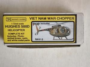 ESOTERIC 1/72 NAV-3 HUGHES 500D VIETNAM WAR