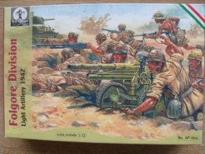 WATERLOO 1/72 AP004 FOLGORE LIGHT ARTILLERY 1942