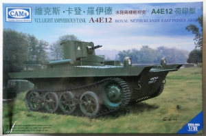 COMBAT ARMOUR MODELS 1/35 35003 VCL LIGHT AMPHIBIOUS TANK A4E12 KNIL VERSION