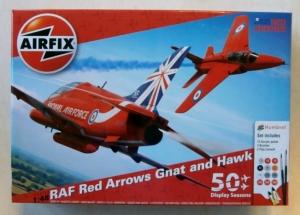 AIRFIX 1/48 50159 RAF RED ARROWS GNAT   HAWK STARTER SET