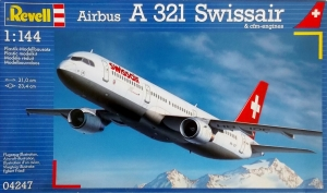 REVELL 1/144 04247 AIRBUS A 321 SWISSAIR