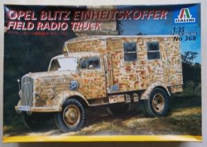 ITALERI 1/35 368 OPEL BLITZ EINHEITSKOFFER FIELD RADIO TRUCK