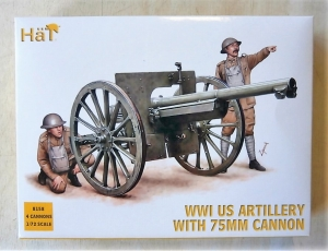 HAT INDUSTRIES 1/72 8158 WWI US ARTILLERY WITH 75mm CANNON