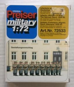 PREISER 1/72 72533 GERMAN RIFLEMEN LINED UP