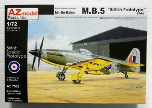 AZ MODEL 1/72 7553 MARTIN-BAKER M.B.5 BRITISH PROTOTYPE 1944
