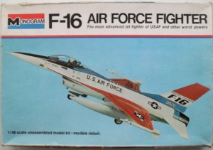 MONOGRAM 1/48 5401 F-16 AIR FORCE FIGHTER