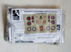 BLUE RIDER 1/72 103 SOPWITH F1/3 CAMEL NIGHT FIGHTER CONVERSION