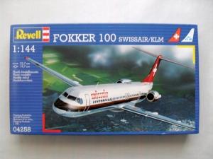 REVELL 1/144 04258 FOKKER 100 SWISSAIR/KLM