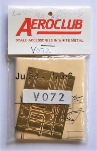 AEROCLUB 1/72 V072 ETCHED LUFTWAFFE JU-88 NIGHT FIGHTER AERIALS