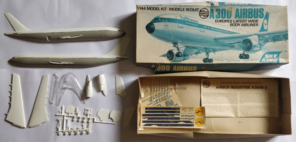 KINGKIT MODEL SCRAPYARD 1/144 AIRFIX - 06176-4 A300 AIRBUS EUROPES LATEST WIDE BODY AIRLINER SKY KING - STARTED