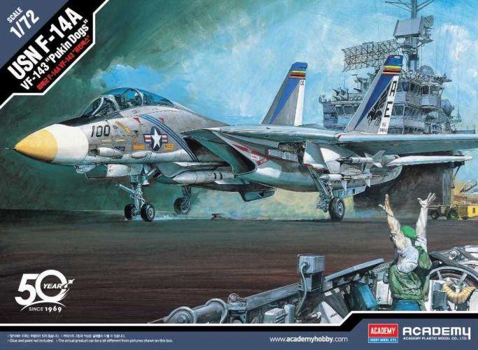 ACADEMY 1/72 12563 USN F-14A VF-143 PUKIN DOGS
