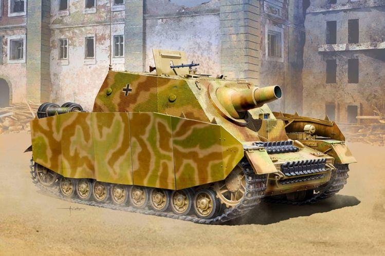 ACADEMY 1/35 13525 GERMAN STURMPANZER IV BRUMMBAR Sd.Kfz.166 EARLY