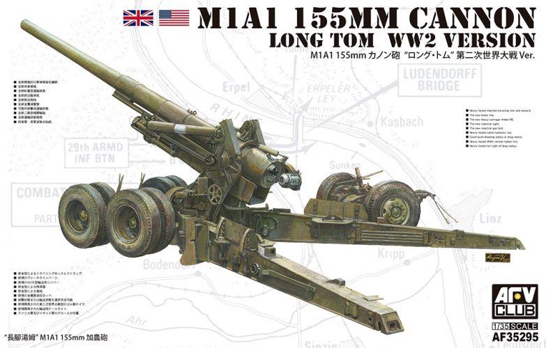 AFV CLUB 1/35 35295 M1A1 155MM LONG TOM CANNON