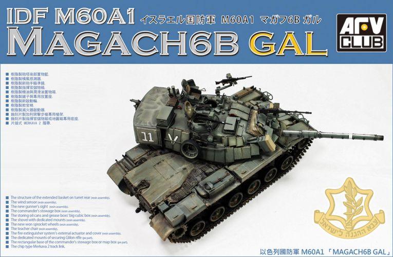 AFV CLUB 1/35 35S92 IDF M60A1  MAGACH6B GAL