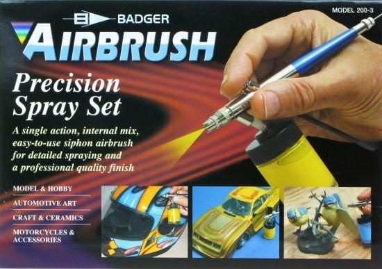 BADGER  2003 AIRBRUSH SIPHON FEED PRECISION SPRAY SET  UK SALE ONLY