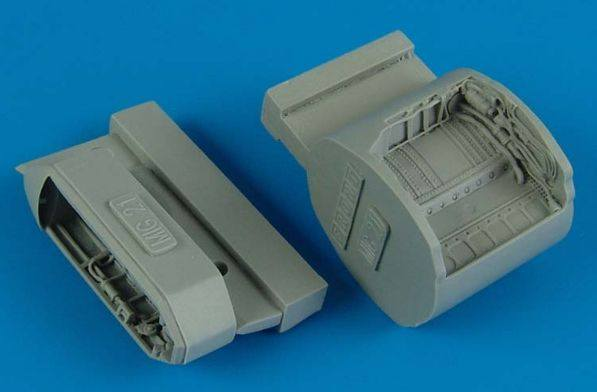 AIRES HOBBY MODELS 1/48 4512 Mikoyan MiG-21 wheel bay  designed to be used with Eduard kits