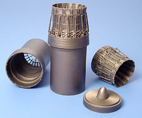 AIRES HOBBY MODELS 1/72 7170McDonnell F-15C Eagle exhaust nozzles - late version  designed to be used with Hasegawa kits