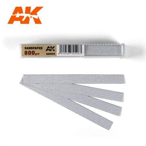 AK INTERACTIVE  9025 50 X DRY SANDPAPER 800 GRIT