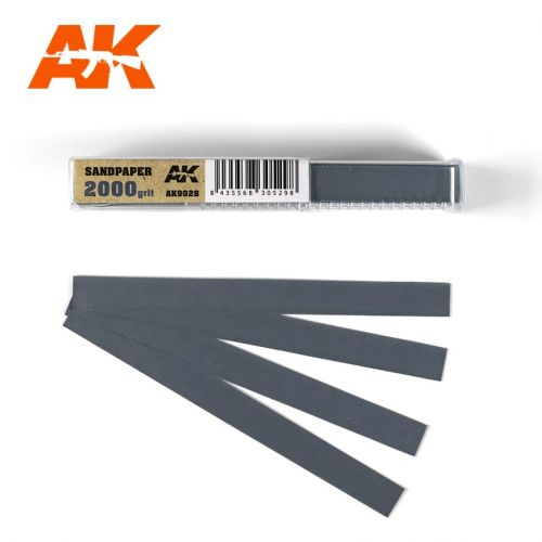 AK INTERACTIVE  9028 50 X WET SANDPAPER 2000 GRIT