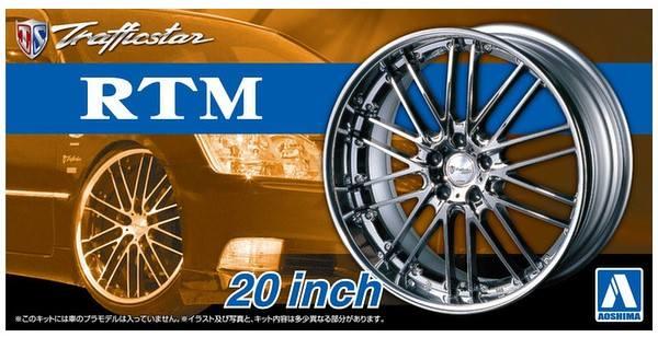 AOSHIMA 1/24 05371 TRAFFICSTAR RTM 20 INCH WHEELS