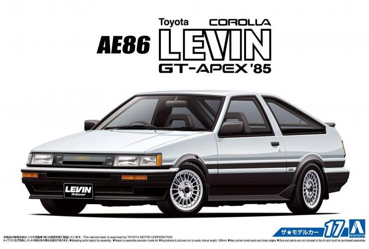 AOSHIMA 1/24 06192 TOYOTA AE86 COROLLA LEVIN GT-APEX  85