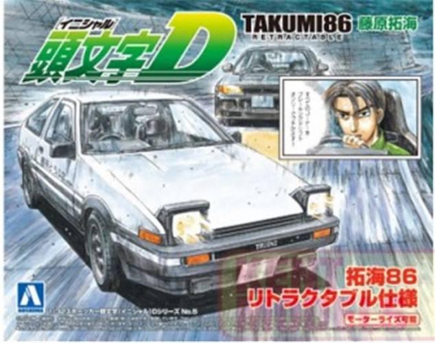 AOSHIMA 1/32 00900 INITIAL-D TAKUMI RETRACTABLE TOYOTA