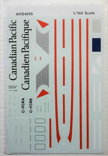 AIRLINE HOBBY SUPPLIES 1/144 1645. 4005 CANADIAN PACIFIC AIRLINES DOUGLAS DC-10-30
