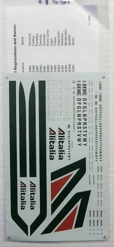 1/200 1651. AVIGRAPHICS 2044 ALITALIA BOEING 747-243B DECAL